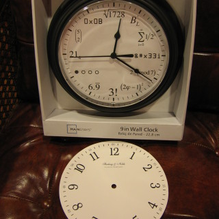 The Math Clock Knockoff