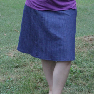 Project 12 – September: Rollover Denim Skirt