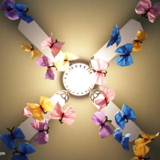 A Butterfly Birthday: Tissue Paper Butterflies