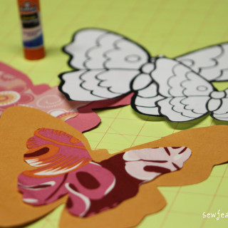 A Butterfly Birthday: Free-Motion Invitations