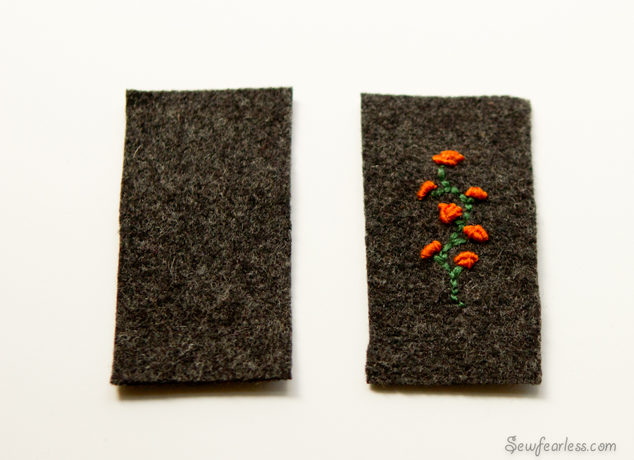 Embroidered Business Card Sleeve (Mini Tutorial)