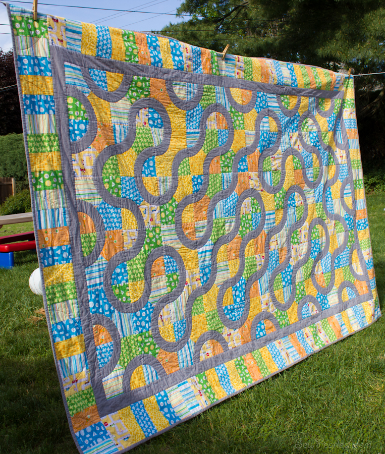 Roads Quilt Finished