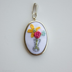 how to mount an embroidered pendant - sewfearless.com