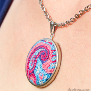 Embroidered – A Pendant and a Poem