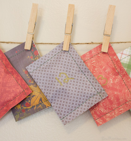 Sewn Scrapbooking Paper Advent Calendar - SewFearless.com