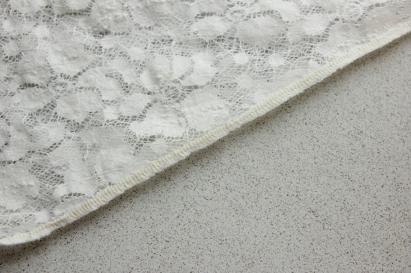 finished seam on stretch lace - sewfearless.com