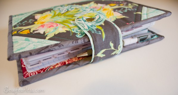 How To Make A Quilted Book Cover ~ Celebrating the new year quilted planner cover tutorial