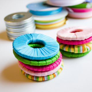 DIY Pattern Weights – Ribbon Wrapped Washers