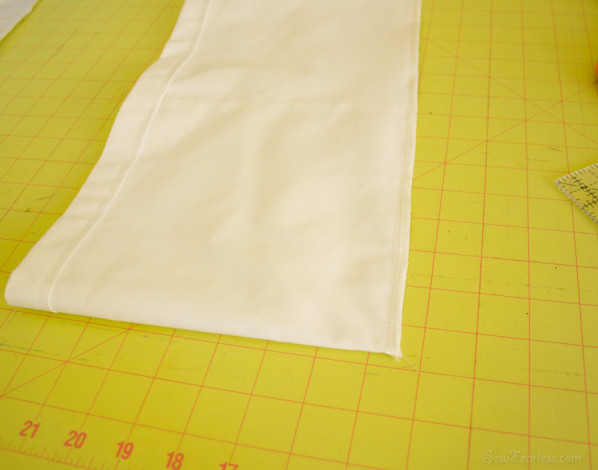 sew the bottom edge of the tube together - sewfearless.com