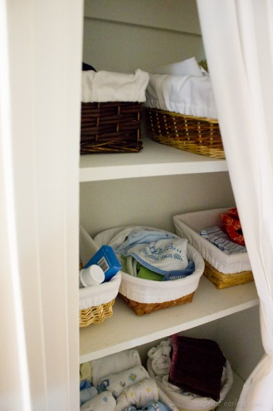 baskets in the closet - sewfearless.com