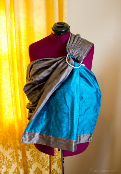 reversible double layer silk dupioni ring sling - sewfearless.com