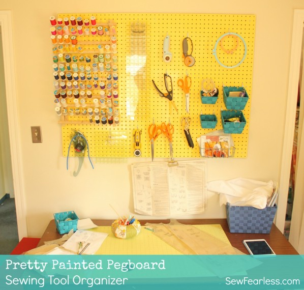 Pretty Painted Pegboard
