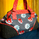 The Mommy Poppins Bag Pattern using an 8 inch frame. Available on SewFearless.com