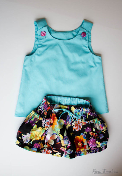 New Look Tunic and Bubble Pocket Shorts - Sewn by SewFearless.com