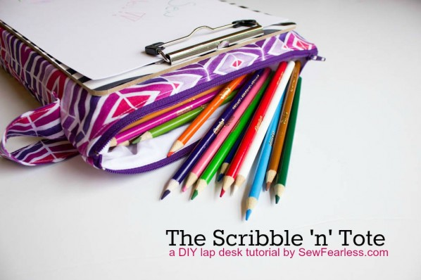 The Scribble n Tote Lap Desk by SewFearless.com - built in pencil case