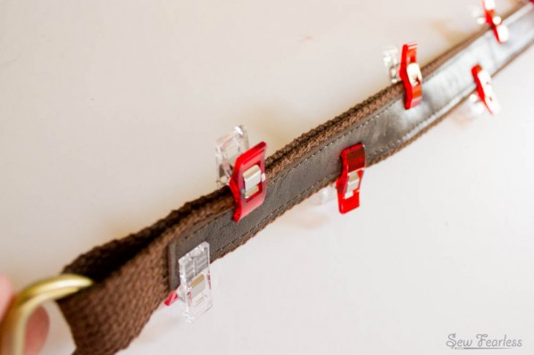 Making a Leather and Cotton Belting Strap - SewFearless.com