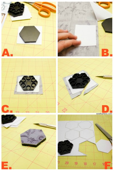 cut out hexies - sewfearless.com
