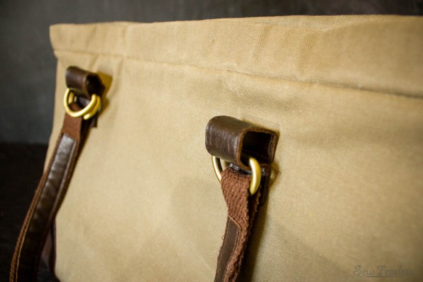 Waxed Canvas Bag with Leather Straps - SewFearless.com