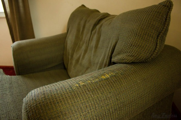 chair before slipcover - sewfearless.com