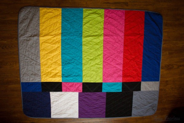 Color Bar Quilt - sewn by sewfearless.com