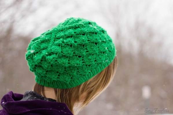 """Foilage"" Knit Hat - Made by SewFearless.com"