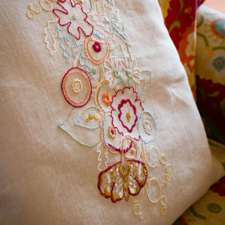 Alison Glass Embroidered Pillow