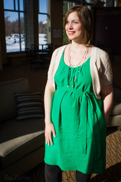 Little Green Dress (Vogue 1236) - SewFearless.com