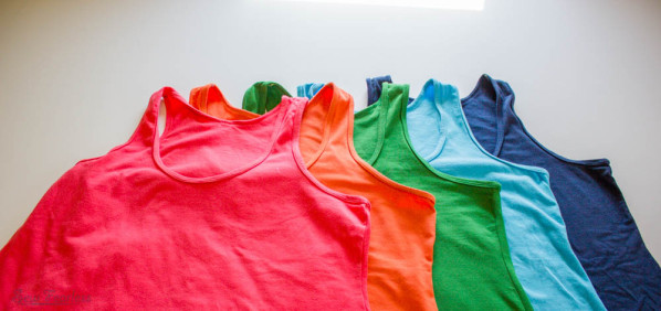 Every wardrobe needs a rainbow of tank tops for summer time - sew fearless.com