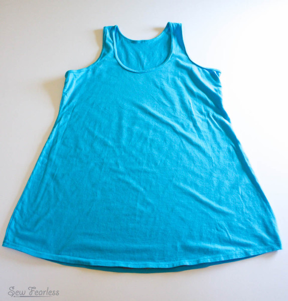 Jalie Racerback tank - modified for maternity wear