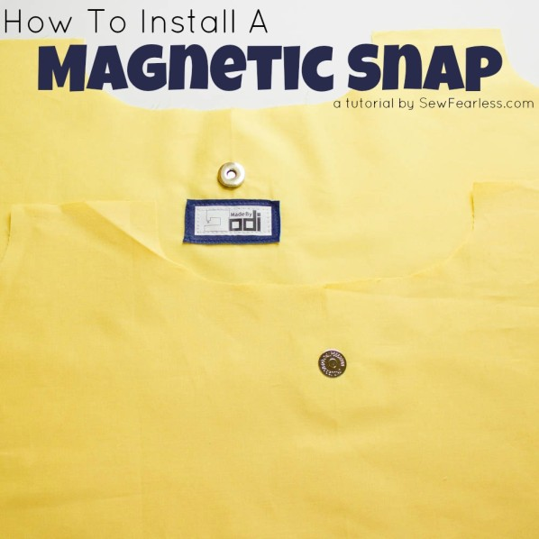 How To Install A Magnetic Snap - a tutorial by SewFearless.com