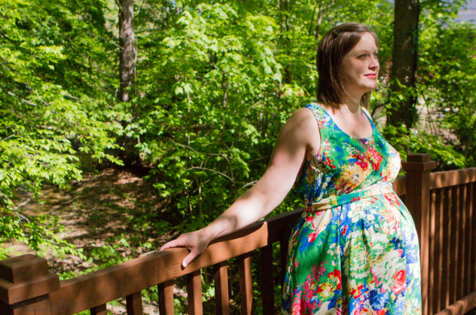 Maternity Maxi (Southport pattern by True Bias, Sewn by Sew Fearless)