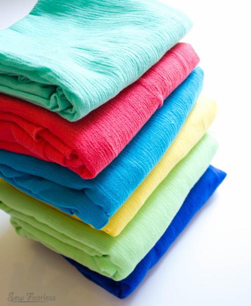 Crinkle Gauze Summer Baby Swaddle Blankets