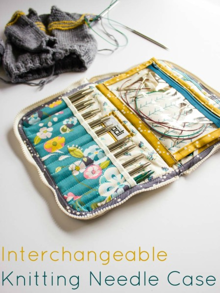 Knitting Needle Storage Case Pattern : Leather interchangeable knitting needle case
