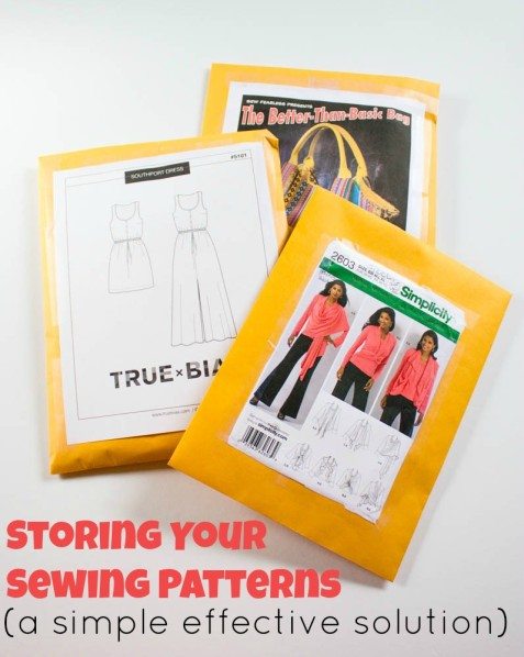 Organizing your sewing Patterns