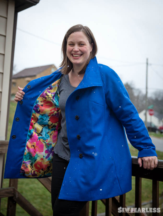 Wool Clare Coat Pattern by Closet Case Files, Sewn by Sew Fearless