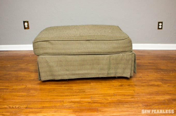 DIY Upholstery Leather Ottoman Tutorial