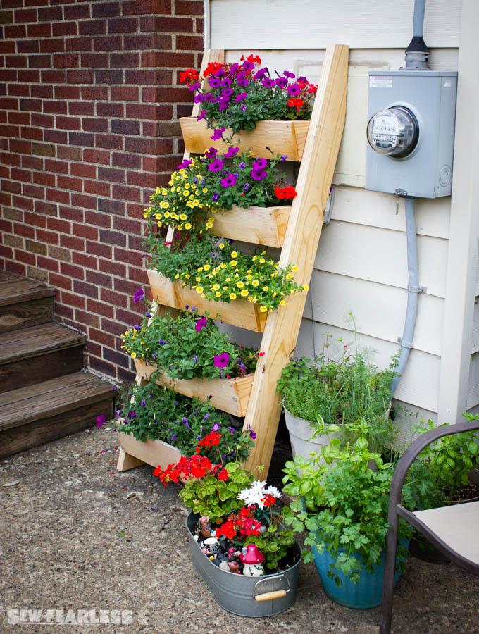 cedar ladder planter