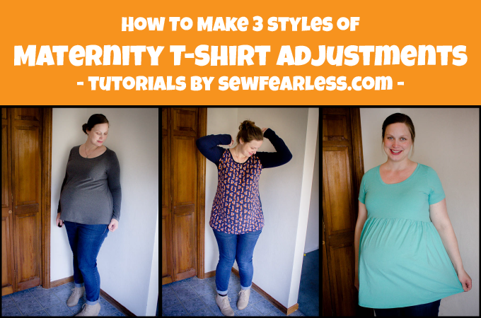 3 Ways To Make Maternity Adjustments To Any T Shirt Pattern