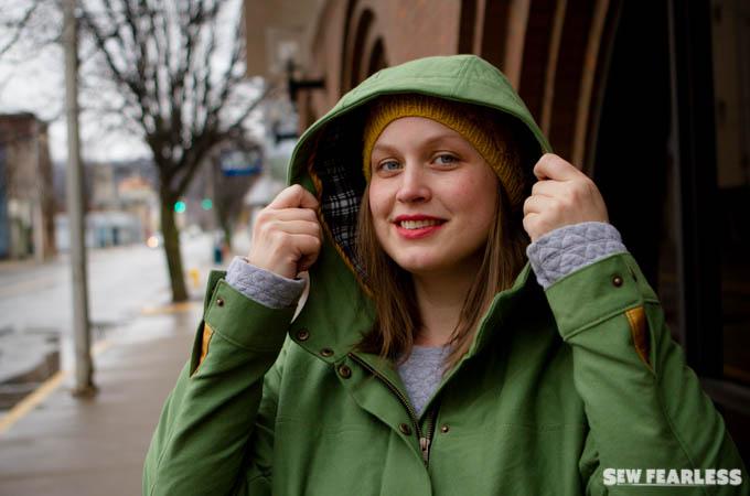 Green Twill Kelly Anorak