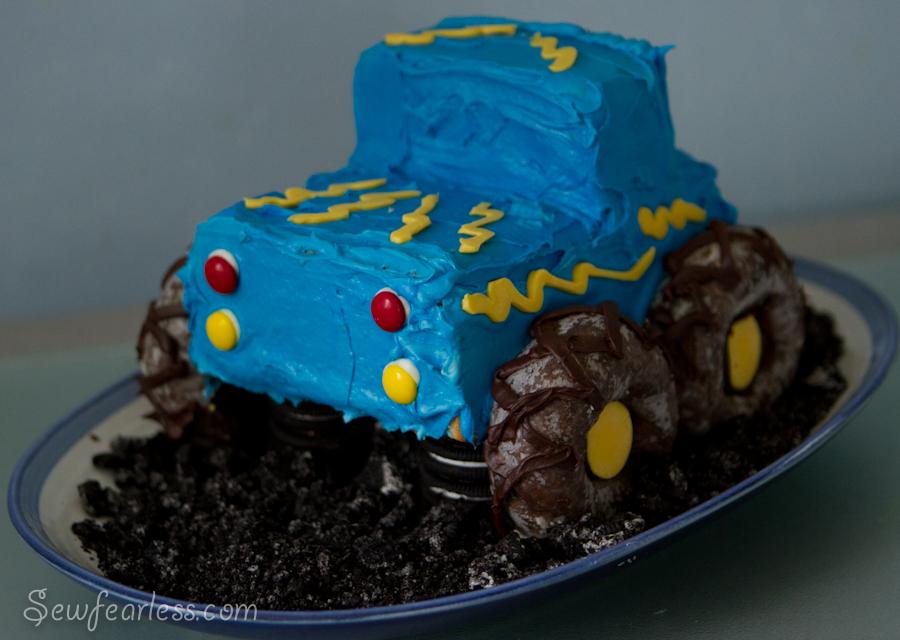 Stupendous Monster Truck Birthday Cake Personalised Birthday Cards Veneteletsinfo