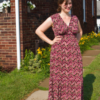 A Floral Maxi aka The Nursing Ninja
