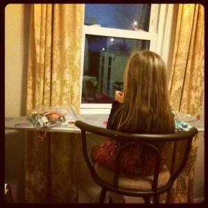 Gianna hard at work