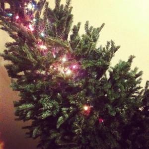 unfinished Christmas tree