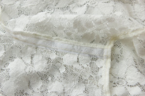 stay tape in lace shoulder seams - sewfearless.com