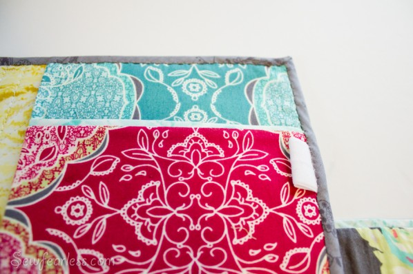 Quilted Planner Cover tutorial - notepad pocket - sewfearless.com