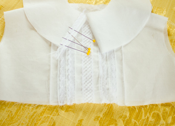 baptism gown in progress - sewfearless.com