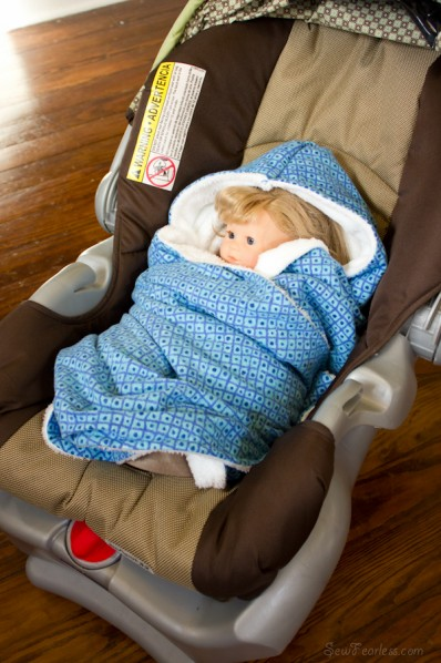 car seat wrap blanket - sewfearless.com