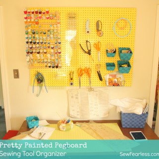 Pretty Painted Pegboard for Sewing Organization [How-To]