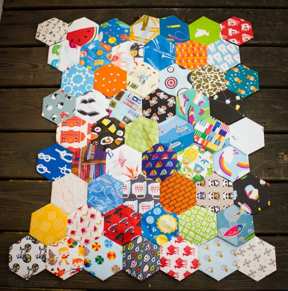 I Spy Hexagon Quilt (WIP) - SewFearless.com