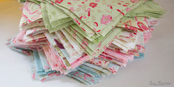 """Stack of 6 inch squares """"love and liberty"""" - SewFearless.com"""